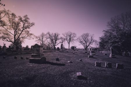 graveyard: Old cemetery - vintage look