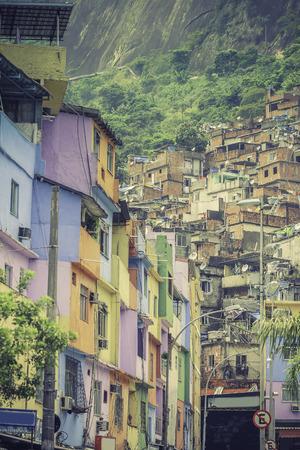 illiteracy: Shantytown Favela in Rio de Janeiro ,Brazil