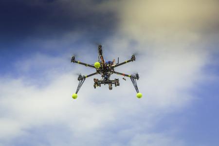 Drone flying in the sky Zdjęcie Seryjne