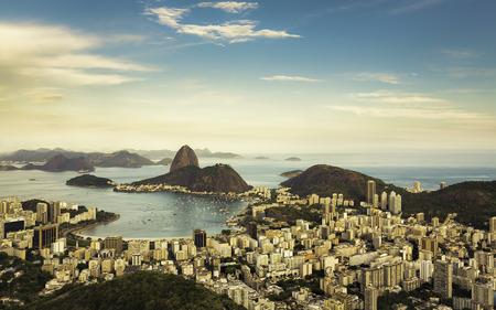rio: Beautiful view of Rio de Janeiro, Brazil Stock Photo