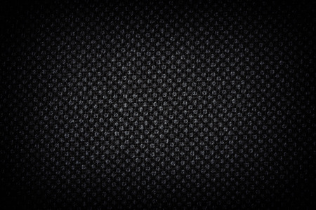sackcloth: Dark Linen texture with white painted dots Stock Photo