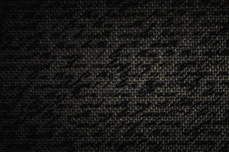 Blur text on dark brown fabric burlap Reklamní fotografie