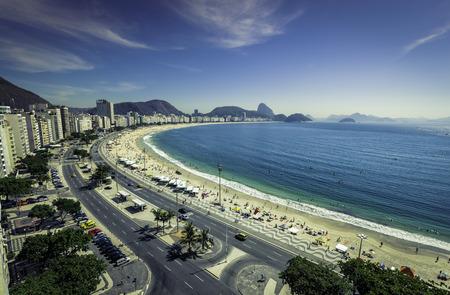 Famous Copacabana Beach in Rio de Janeiro, Brazil Imagens