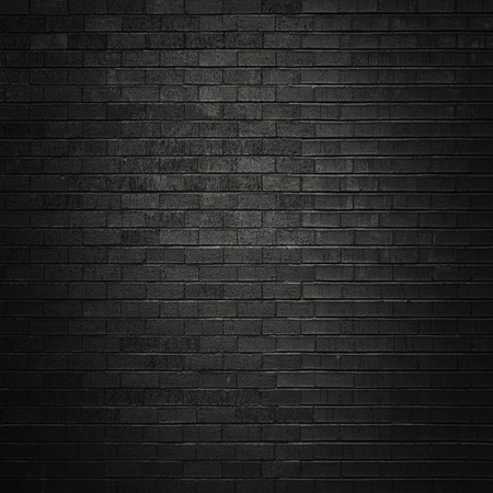 black pattern: Black brick wall for background