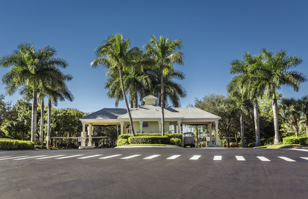residential homes: Guard entrance to gated community in South Florida