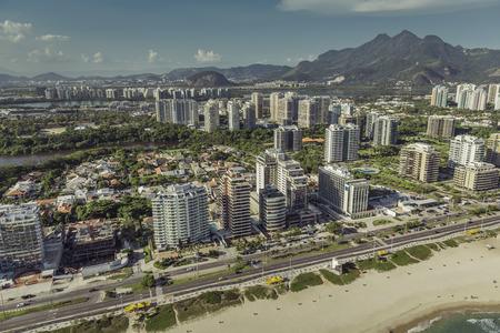 rio: Rio de Janeiro, Barra da Tijuca beach with modern architecture, Brazil Editorial