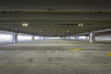 garage: Empty parking garage