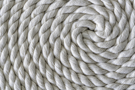 slipped: Roll of rough rope. Rope folded helix
