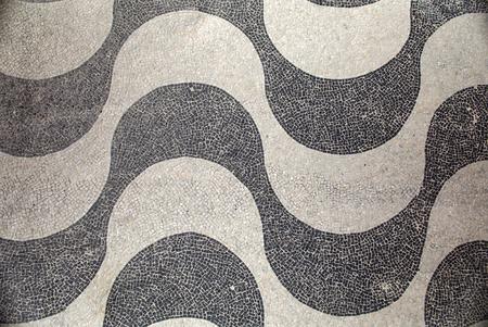 janeiro: Copacabana Mosaic top view, Rio De Janeiro