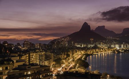 janeiro: Rio De Janeiro panorama at dusk, Brazil