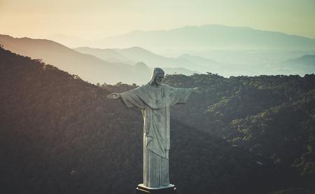 Vue aérienne du Christ Rédempteur Statue