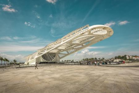 olympic game: Museum of Tomorrow in Old Port area, Rio de Janeiro Brazil. Designed by famous Spanish architect Santiago Calatrava.