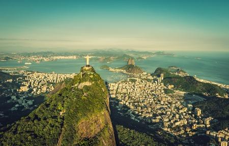 Aerial view of Botafogo Bay and Sugar Loaf Mountain, Rio De Janeiro, Brazil