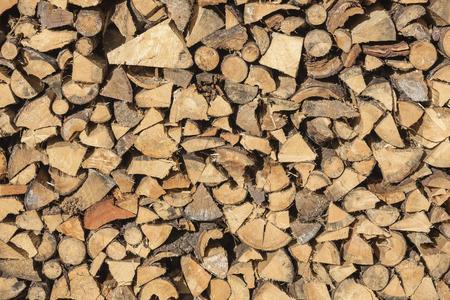 irregular shapes: Pile Of Chopped Irregular Shapes Fire Wood Storage For Winter