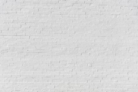 White painted brick wall for texture or background Archivio Fotografico