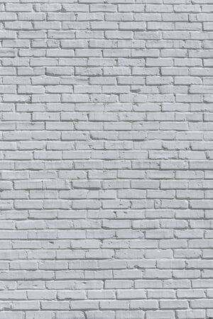 Backstein gestrichene weiße Wand, kann für Textur oder Hintergrund verwendet werden Standard-Bild