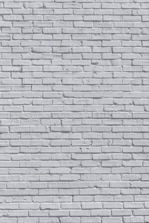Brick painted white wall, can be used for texture or background