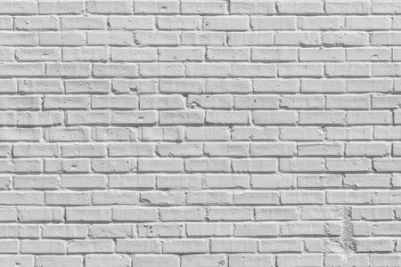 White painted brick wall for texture or background