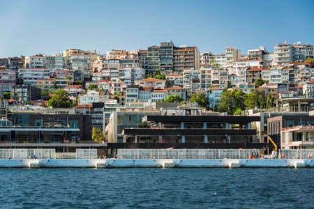 New construction buildings along the banks of Bosphorus in Istanbul, Turkey Foto de archivo