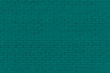 Dark green brick wall for texture or background