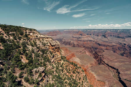 Grand Canyon National Park. Steep Canyon carved by Colorado River in Arizona