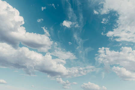 Blue sky with clouds, summer background