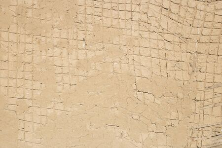 The texture of clay walls