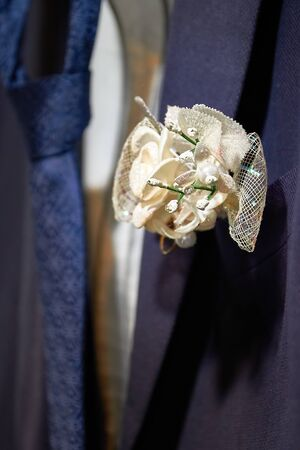 Boutonniere on a man s suit