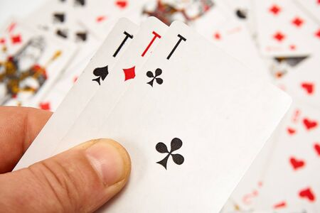 Cards in hand, cards poker game
