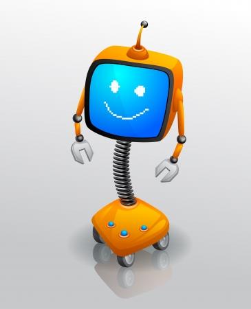 Robot tv Stock Photo - 17479393