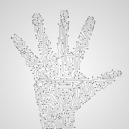 Circuit board shape of hand