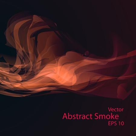 Smoke background  vector elegant wave