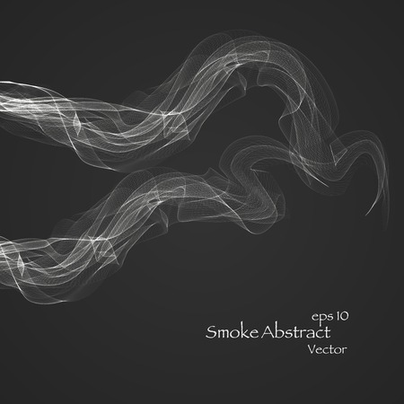 Abstract smoke  , vector elegant wave