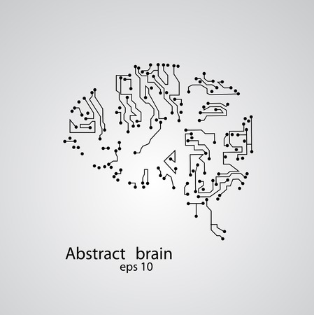 Circuit board brain , vector illustration Illustration