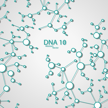 Futuristic dna , vector elegant  illustration