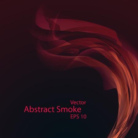 Smoke background, vector elegant wave