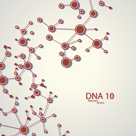 Structure of DNA , vector elegant  illustration