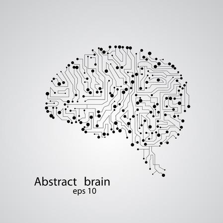 Circuit board brain Illustration