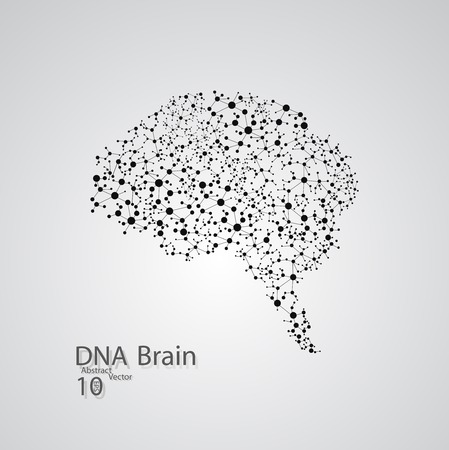 Molecular structure in the form of brain