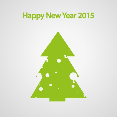 snow tree: Christmas fir tree with snow, Tree for the new year, vector illustration