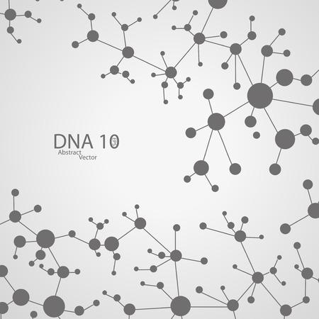 encoded: Futuristic dna eps 10
