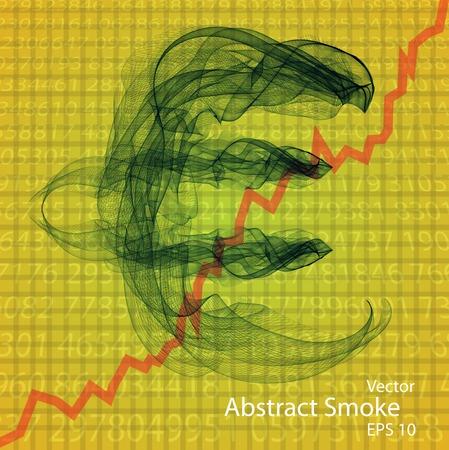 enfumaçado: Sign of euro from a smoky