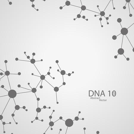 deoxyribose: Futuristic dna illustration Illustration