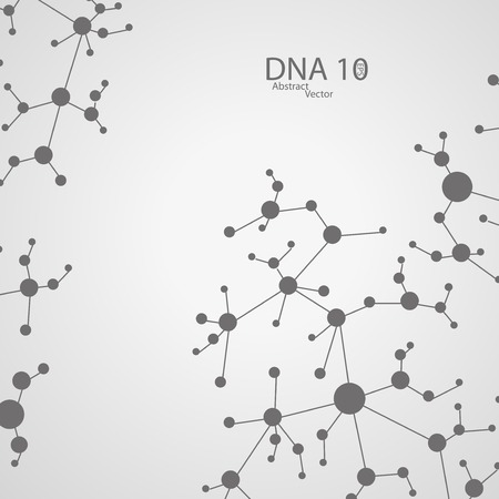 dna background: Futuristic dna illustration Illustration