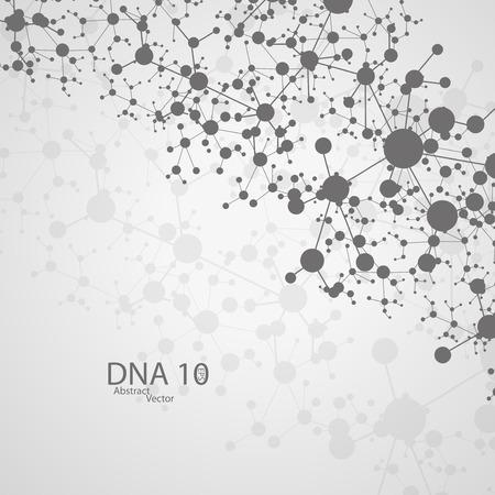 deoxyribose: Futuristic dna  Illustration