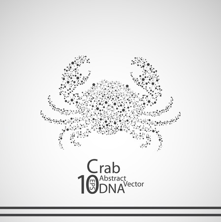 deoxyribose: Molecular structure in the form of crab