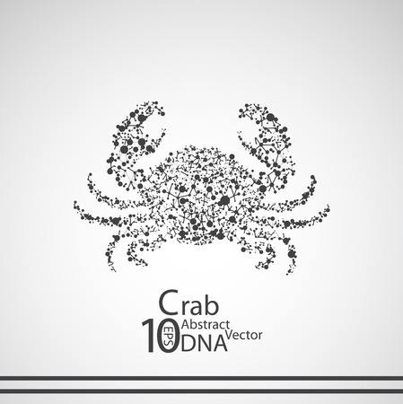crab legs: Molecular structure in the form of crab