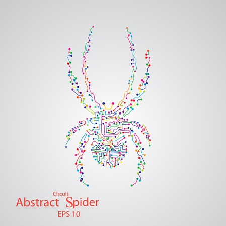 Circuit board spider Vector
