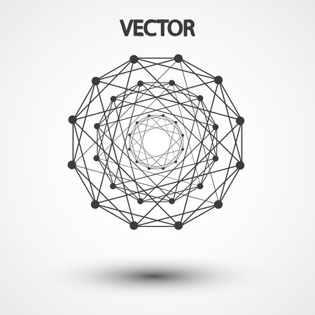 hexahedron: Wireframe polygonal elements