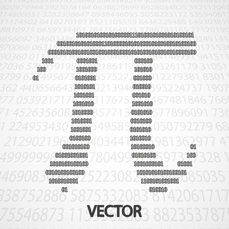 geniality: Pi Numbers shape eps10. Mathematics vector elegant illustration